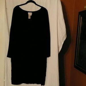Black long sleeve dress,  gently worn